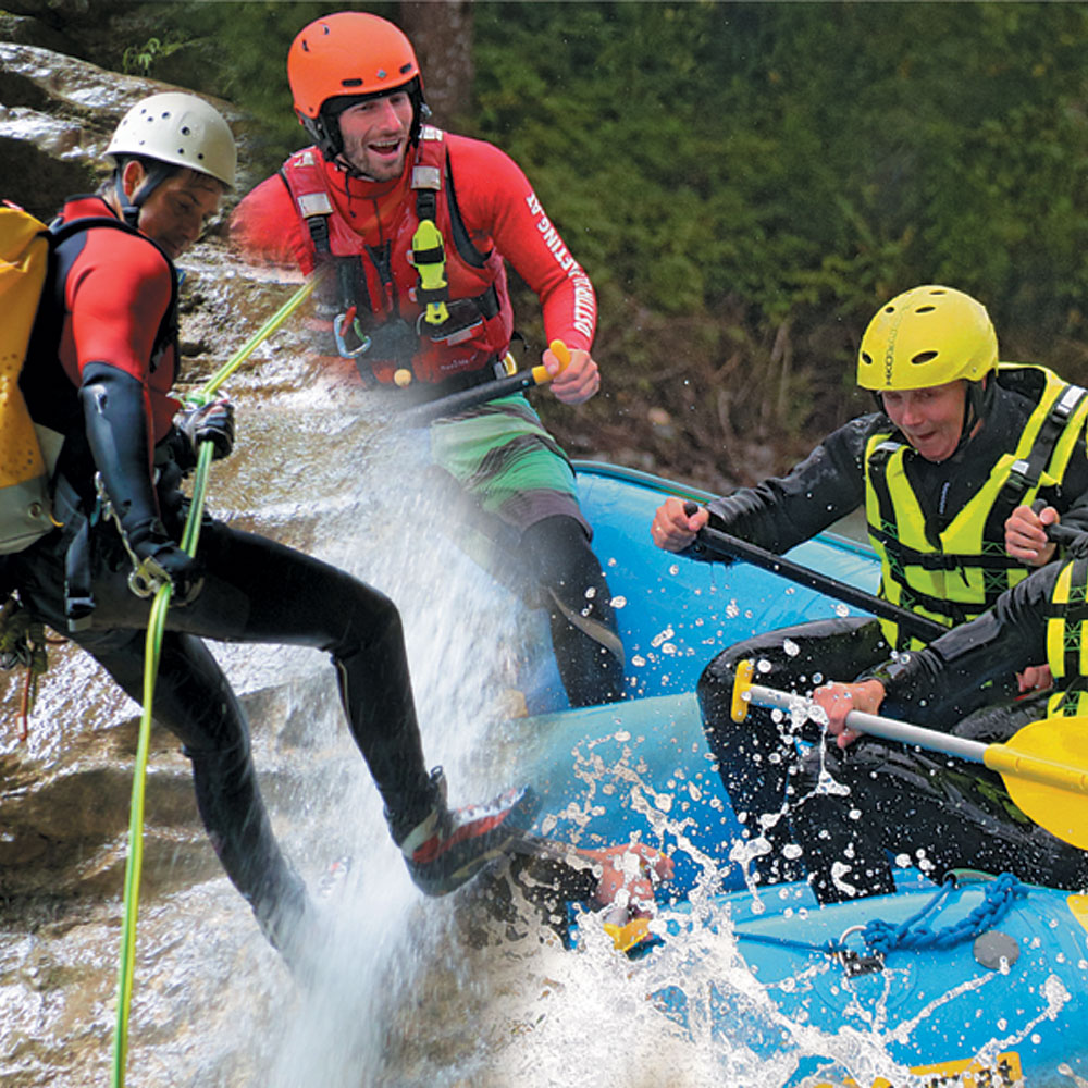Rafting Canyoning Paintball Wochenende