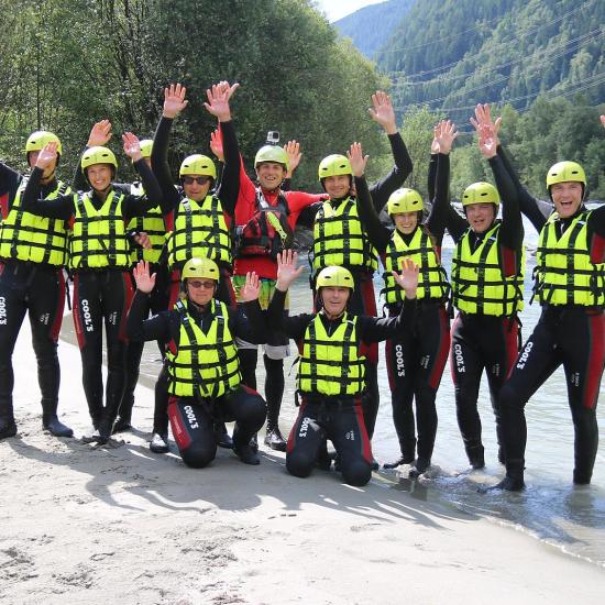 Firmenausflug Kärnten Rafting