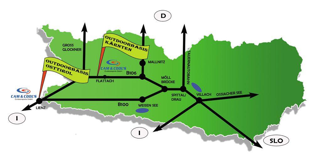 Verkehrsspinne CAM - Kärnten Rafting