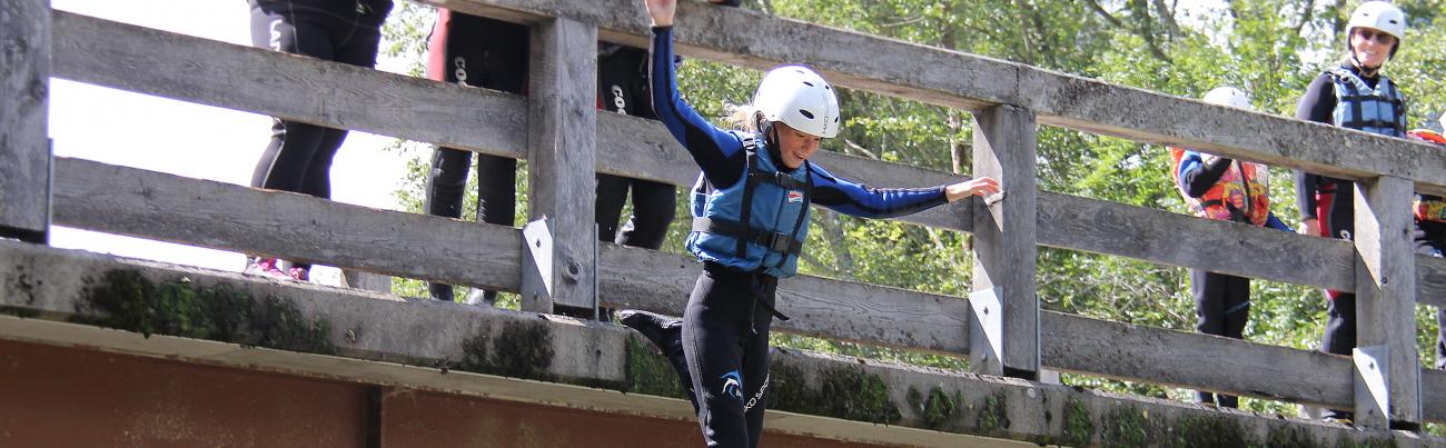 Brückensprung Möll Rafting